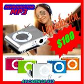 REPRODUCTOR MP3 $100 SOLO POR ESTE MES!!!!