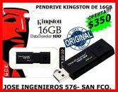 PENDRIVE DE 16GB KINGSTON $350