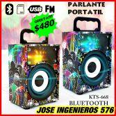 PARLANTE PORTATIL BLUETOOTH $480