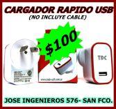 CARGADOR RAPIDO DE 1A. 100 (no incluye cable)