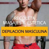 Depilacion para hombres y masajes