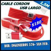 CABLE USB CORDON PARA CEULARES $180
